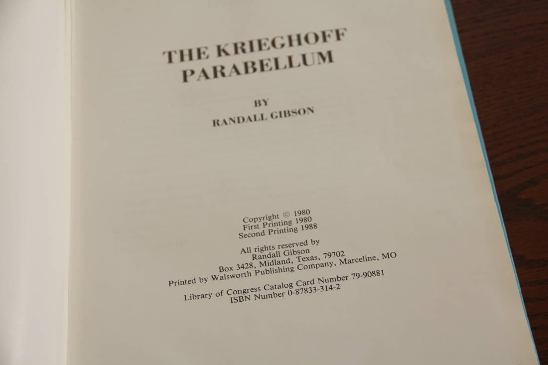 Фото Справочник по клеймам пистолета Люгер «The Krieghoff Parabellum», 1980 год