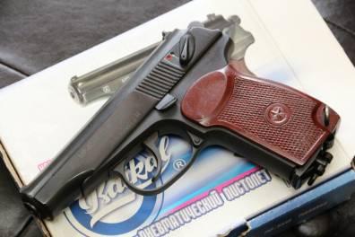 Пневматический пистолет МР-654к 2012 год выпуска