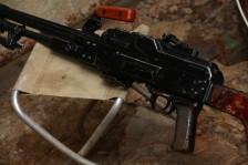 Советский пулемет Калашникова  1965 года «ПК» №АТ307 на станке Саможенкова