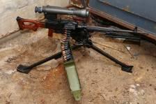 Охолощенный советский пулемет Калашникова «ПКМН» 1984 года на станке Степанова