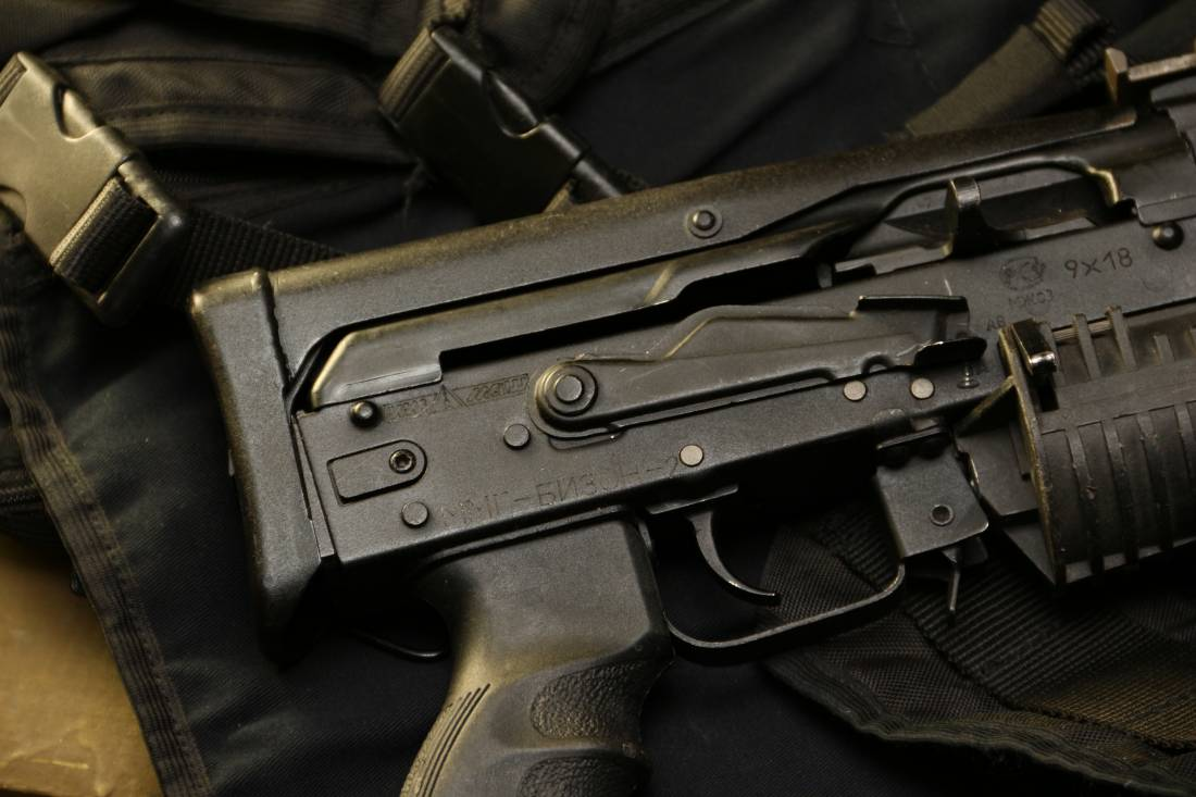 Фото Пистолет-пулемет «Бизон» со шнековым магазином №084030 «опытная версия»