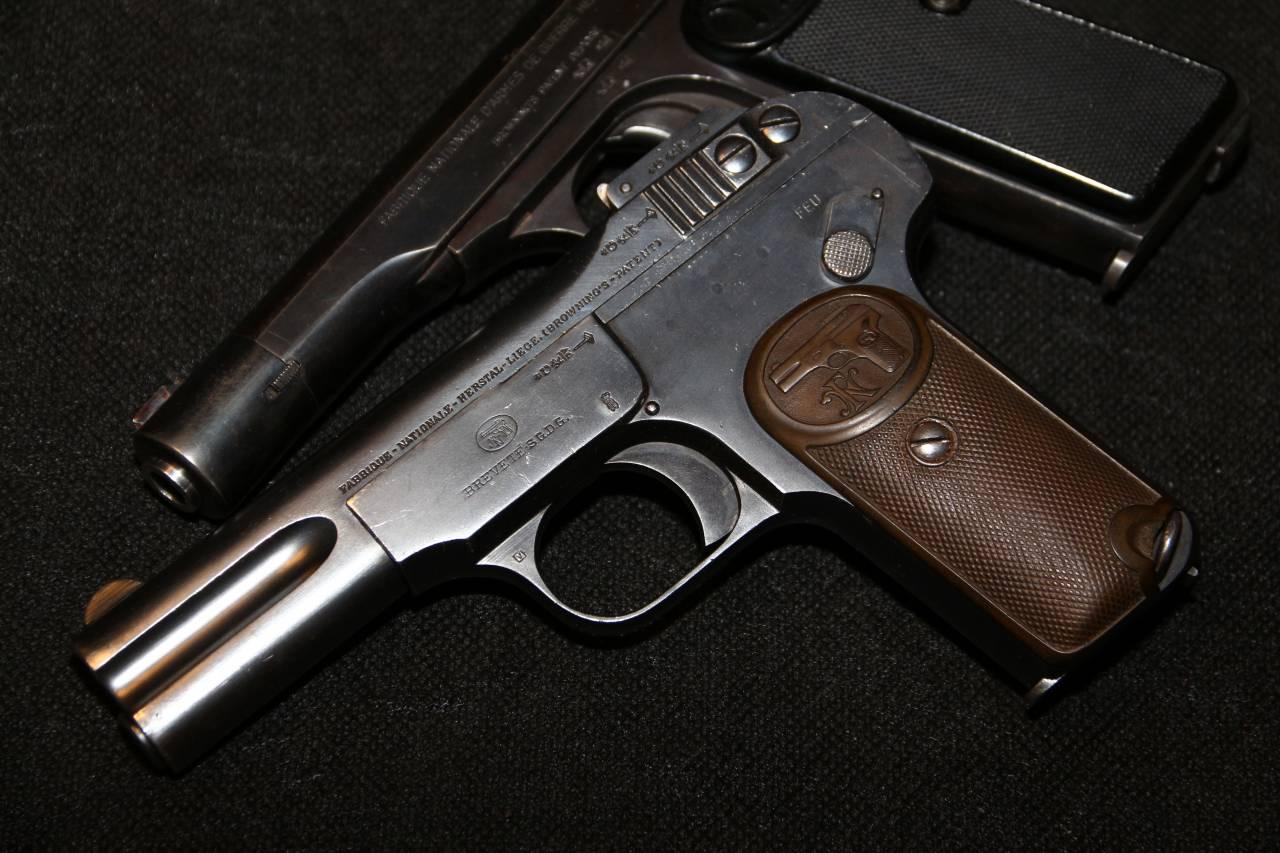 Браунинг ФН1900 №99628, немецкая военная приемка ПМВ