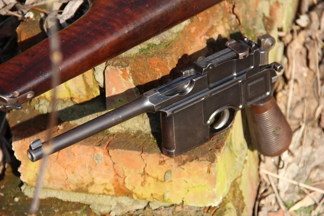 Фото Mauser Cone Hammer #2283 с родной номерной кобурой