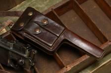 Оригинальная довоенная коробчатая кожаная кобура для Mauser M712