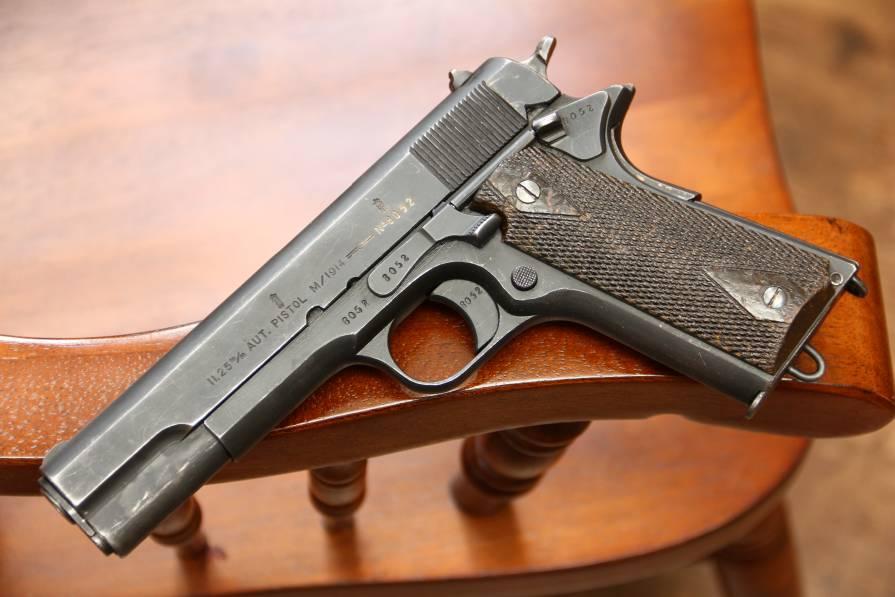 Фото Норвежский пистолет Kongsberg m1914 «Kongsberg Colt» 1926 год #8052