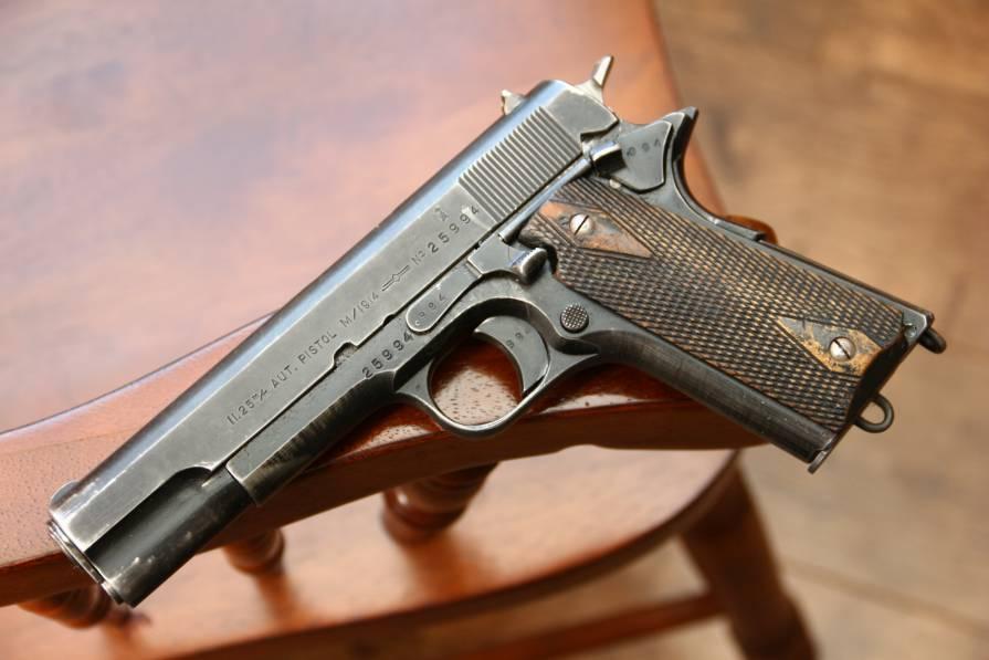 Фото Норвежский пистолет Kongsberg m1914 «Kongsberg Colt» 1941 год #25994