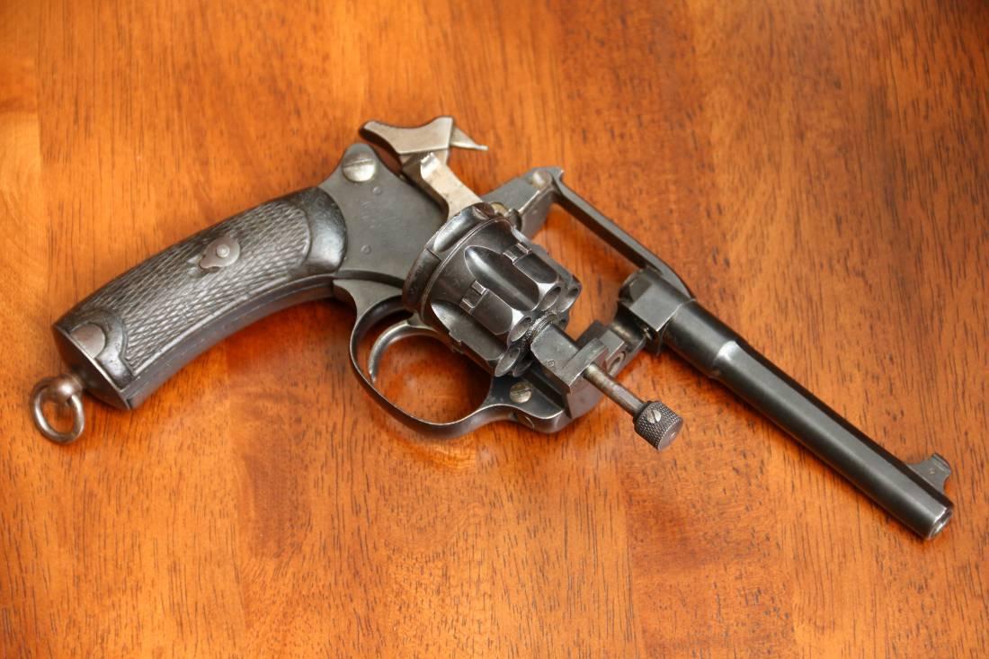 Фото Французский револьвер Лебель М1892 #H91493 в оригинальной кобуре