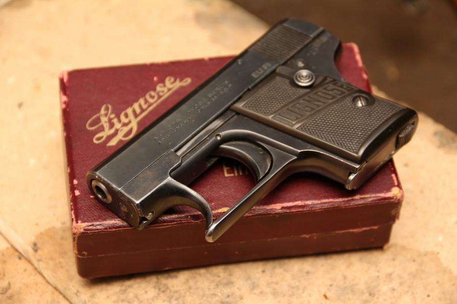 Фото Жилетный пистолет Lignose Einhand «одна рука»  #43628, коллекционный комплект