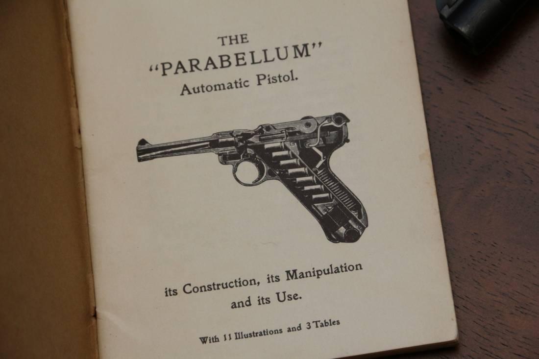 Фото Наставление к пистолету Parabellum, 1906 год