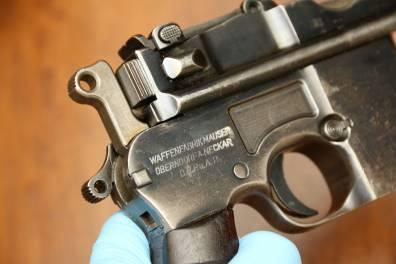 Mauser M712 Shnellfeuer #8565, клеймо военной немецкой приемки, войска SS