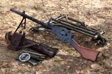 Ручной пулемет Madsen модель 1940 года #3201 на станке