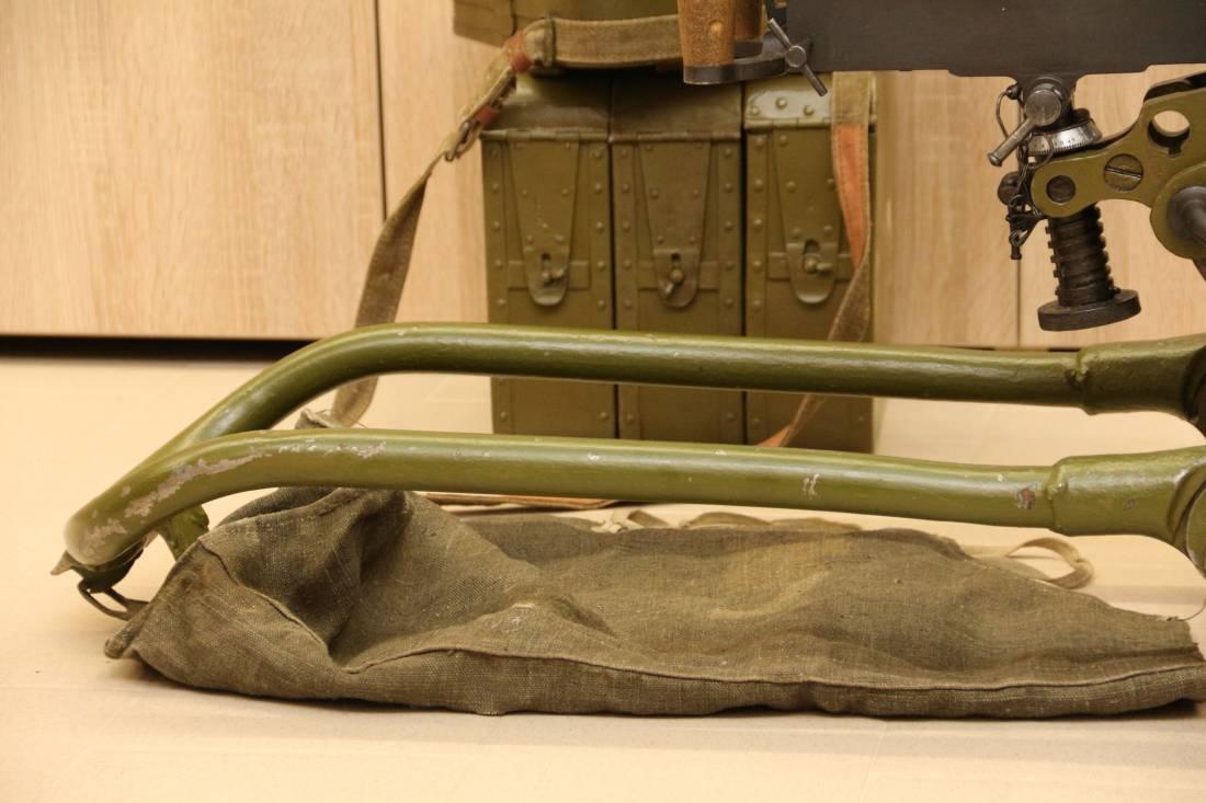 Фото Охолощенный пулемет Максим 1936 года, №831, коллекционный комплект, ТОЗ