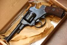 Охолощенный револьвер Наган 1925 года №15454, с выступом под дверцу