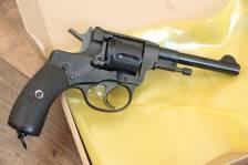 Охолощенный царский револьвер Наган 1914 года, №1063