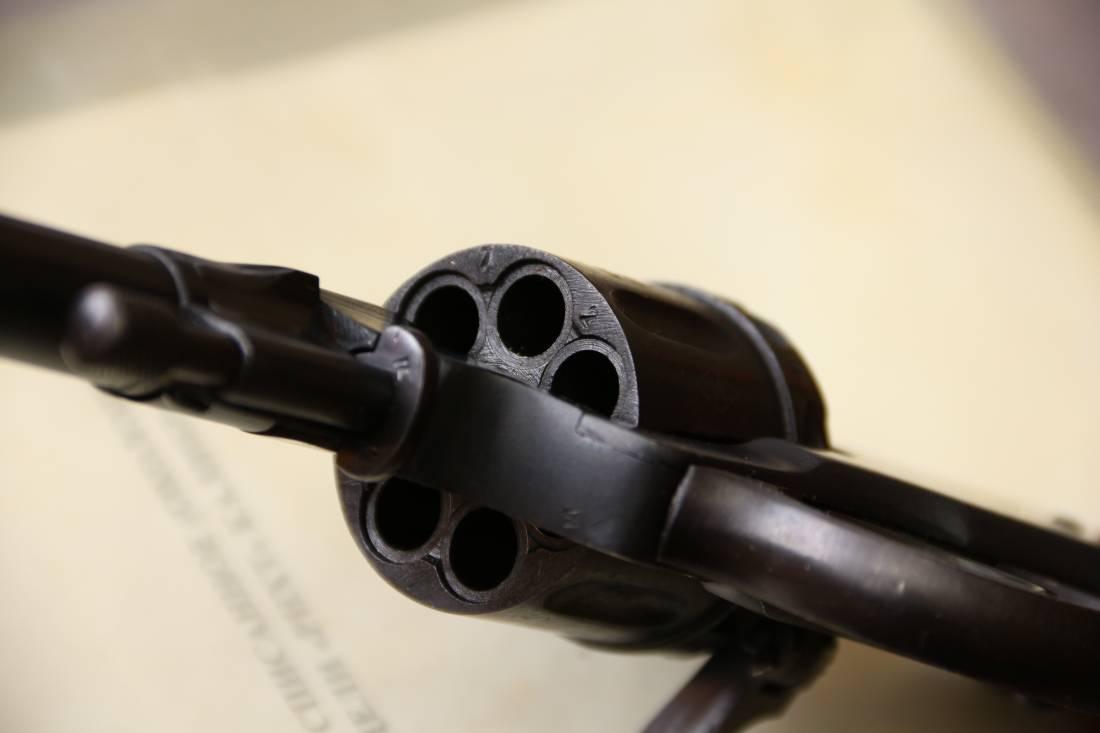 Фото Охолощенный револьвер Наган РНХТ 1938 года, №ДФ729, бюджетный