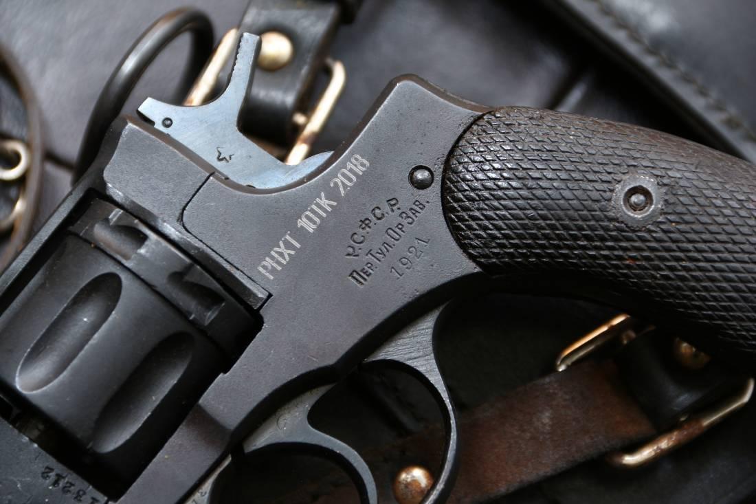 Фото Охолощенный револьвер Наган 1921 года, клеймо РСФСР, №13212
