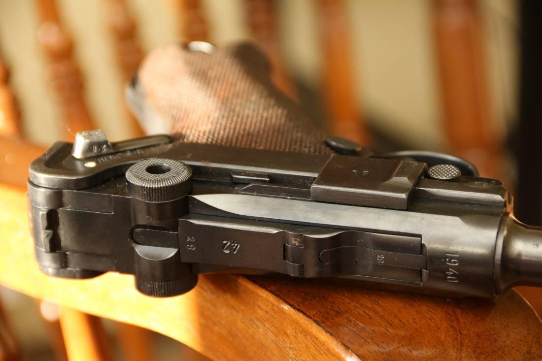 Фото  Пистолет Люгер Парабеллум P-08 #9128, выпуск 1940 года, люкс