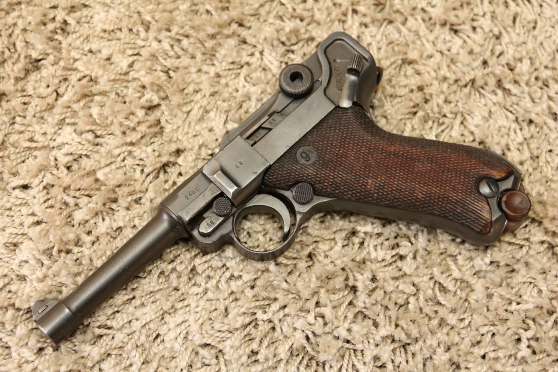 Фото Пистолет Люгер Парабеллум P-08, завод S/42 #2468 1936 года
