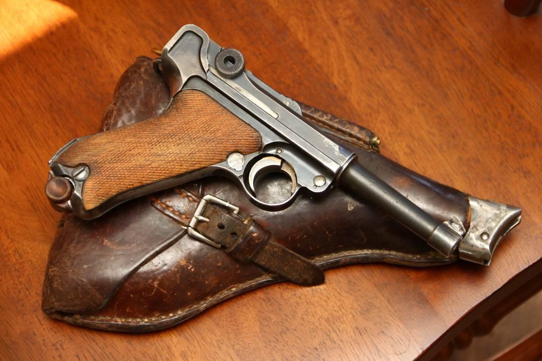 Фото Пистолет Люгер Парабеллум P-08 #1191; коммерческий вариант с «бочкой Mauser»