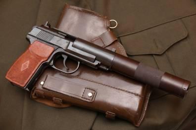 Советский бесшумный пистолет ПБ 6п9 №А173И, выпуск начала 1980-го года