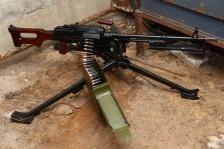 Охолощенный советский пулемет Калашникова «ПКМ» 1974 года на станке Степанова