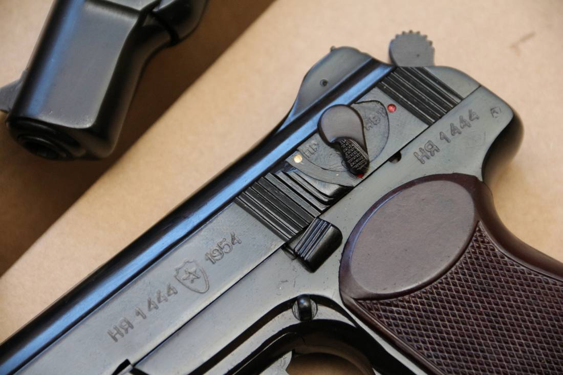 Фото  Охолощенный пистолет Стечкина 1954 год, №1444, коллекционное состояние