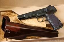Охолощенный пистолет Стечкина 1954 год, №СВ1360, коллекционное состояние