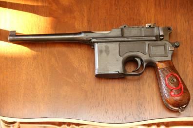 Mauser C-96, красная девятка, отличный деактив
