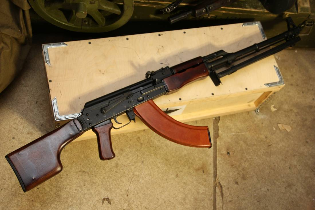 Фото Ручной пулемет Калашникова складной РПКС, 1966 год, №КД-0829