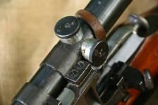 Охолощенная СВМ 1943 года, тульская звезда, снайперские клейма, №РО 804