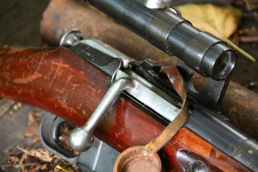 Фото Охолощенная СВМ 1943 года, тульская звезда, снайперские клейма, №РО 804