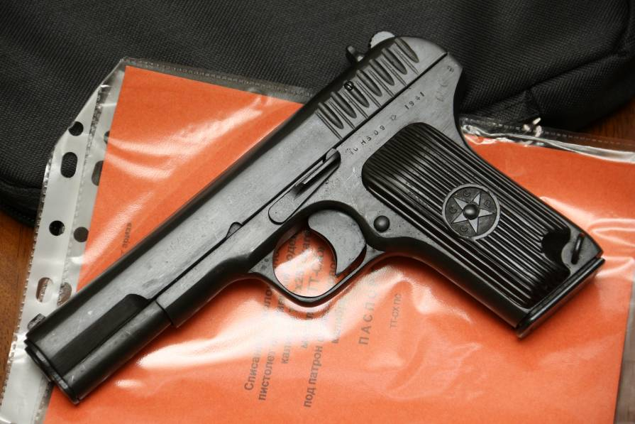 Фото Охолощенный пистолет ТТ-СХ 1941 года, №СН509