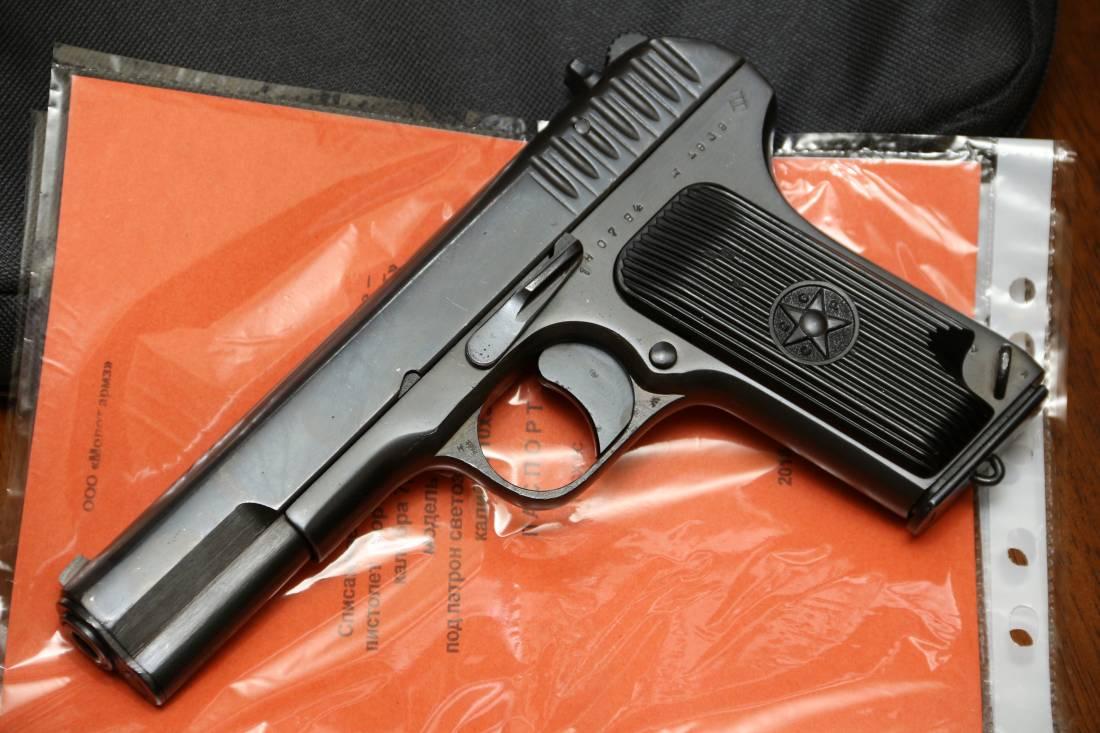 Фото Охолощенный пистолет ТТ-СХ 1939 года, №ПО784