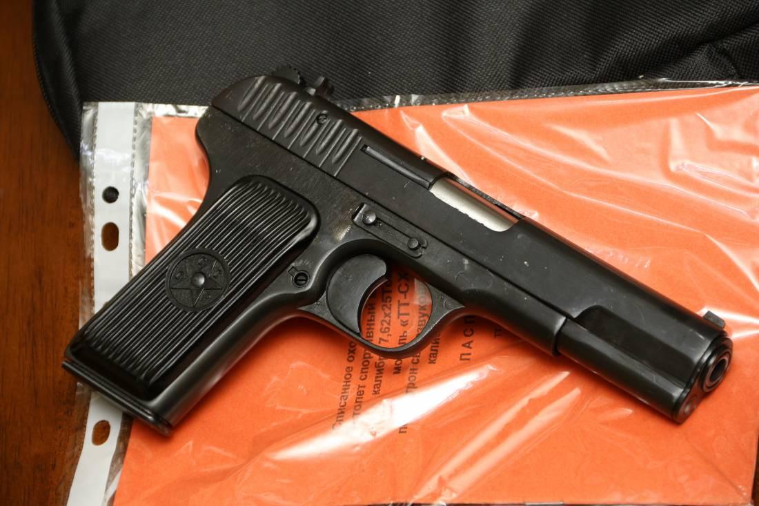 Фото Охолощенный пистолет ТТ-СХ 1938 года, №ХГ708