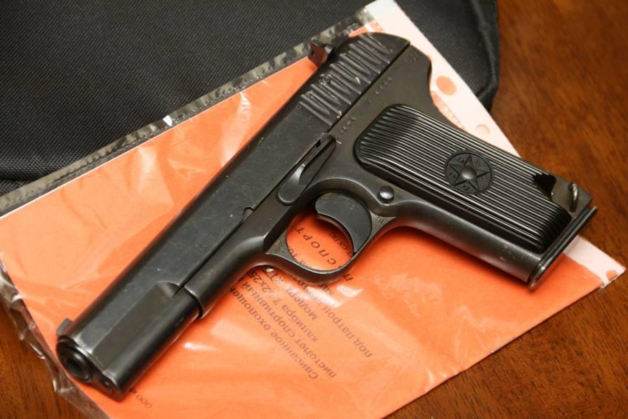 Фото Охолощенный пистолет ТТ-СХ 1939 года, №АБ104