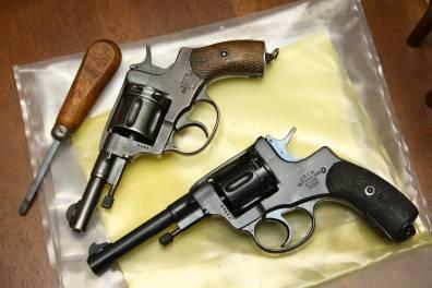 Охолощенный револьвер Наган 1928 года, №14264, переходный вариант