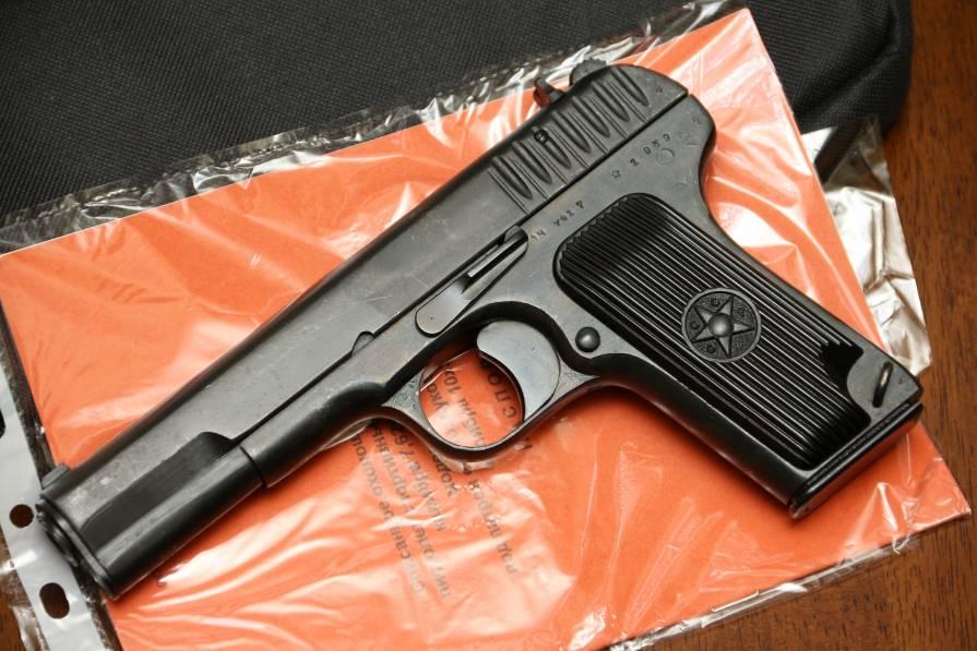 Фото Охолощенный пистолет ТТ-СХ 1938 года, №ЧХ417