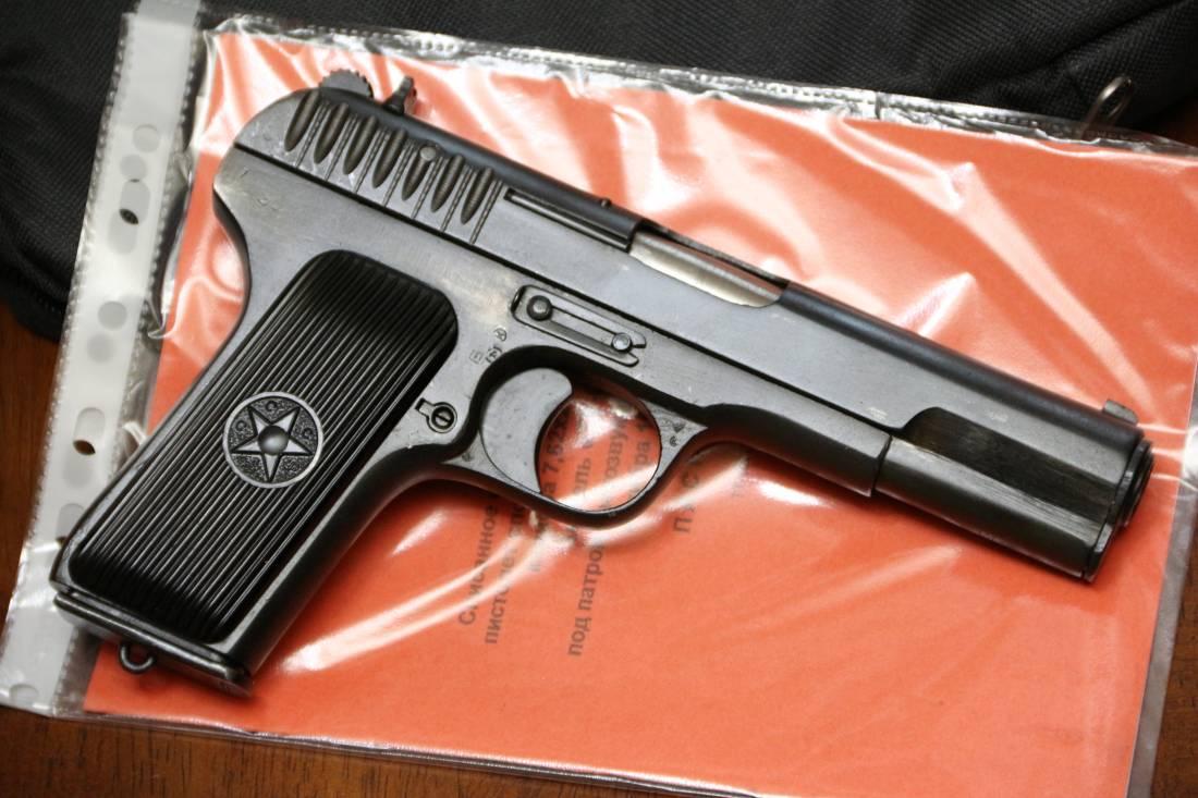 Фото Охолощенный пистолет ТТ-СХ 1943 года, №ИВ1054