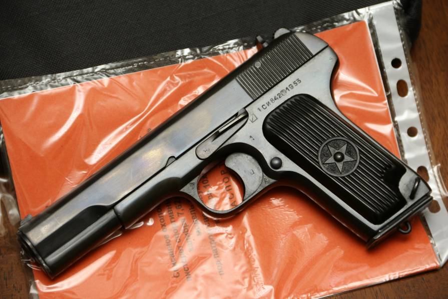 Фото Охолощенный пистолет ТТ-СХ 1953 года, №CB842