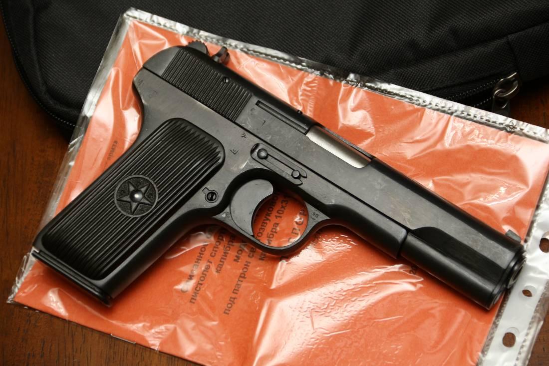 Фото Охолощенный пистолет ТТ-СХ 1953 года, №НА4347