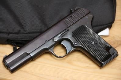 Охолощенный пистолет ТТ-СХ 1937 года, №30759, красный затвор