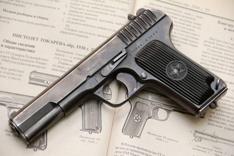 Фото Охолощенный пистолет ТТ 1939 года, №АД824, уникальное состояние