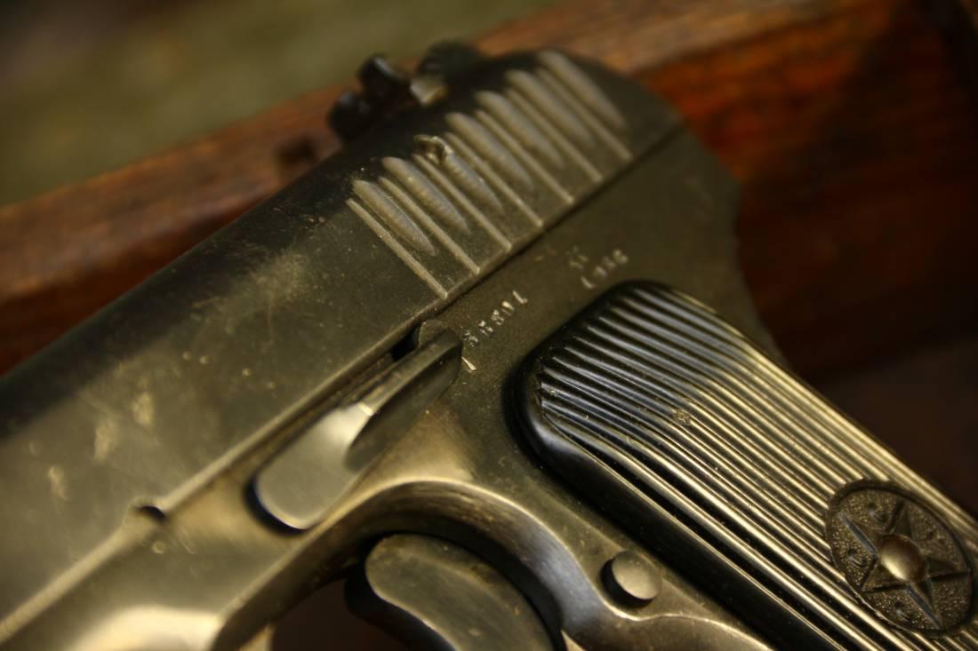 Фото Охолощенный советский пистолет ТТ 1936 года №36801