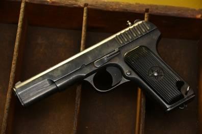 Охолощенный пистолет ТТ 1940 года №ДО608