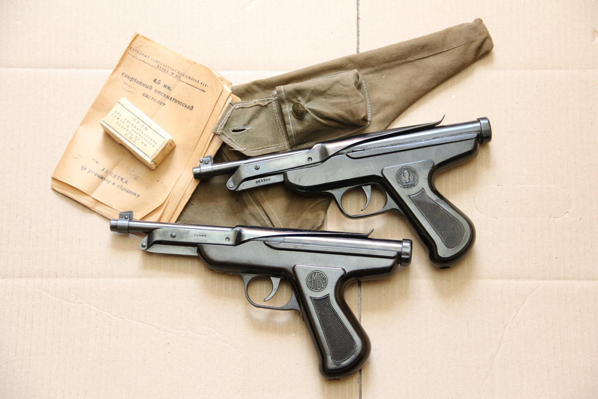 Уникально: немецкий Zenit 1937 года и ижевский СПП ИЖ-45 1945 года, оба в люксе, копирайт СССР