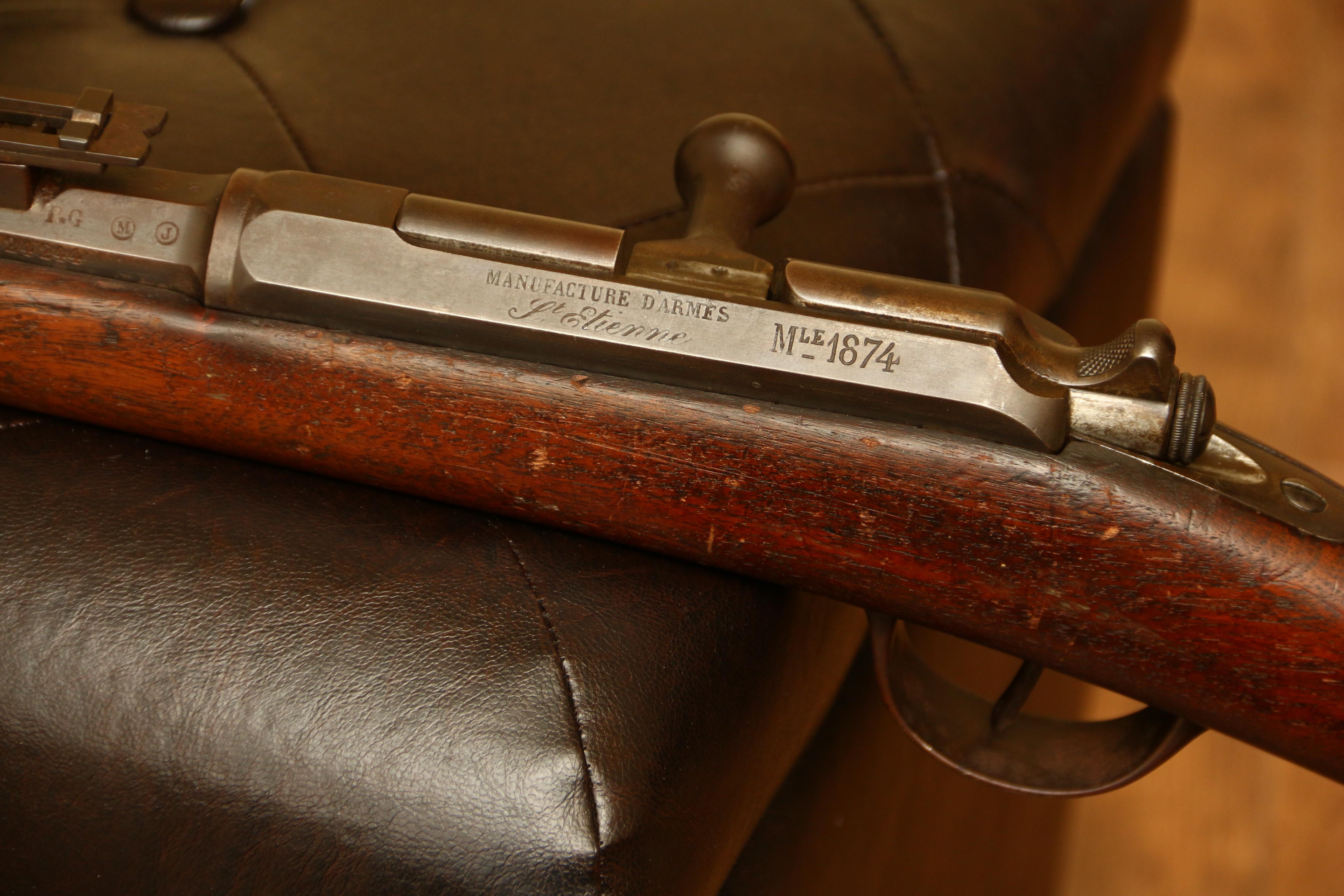 Французская винтовка Gra mle 1874, №24244, 1878 год выпуска