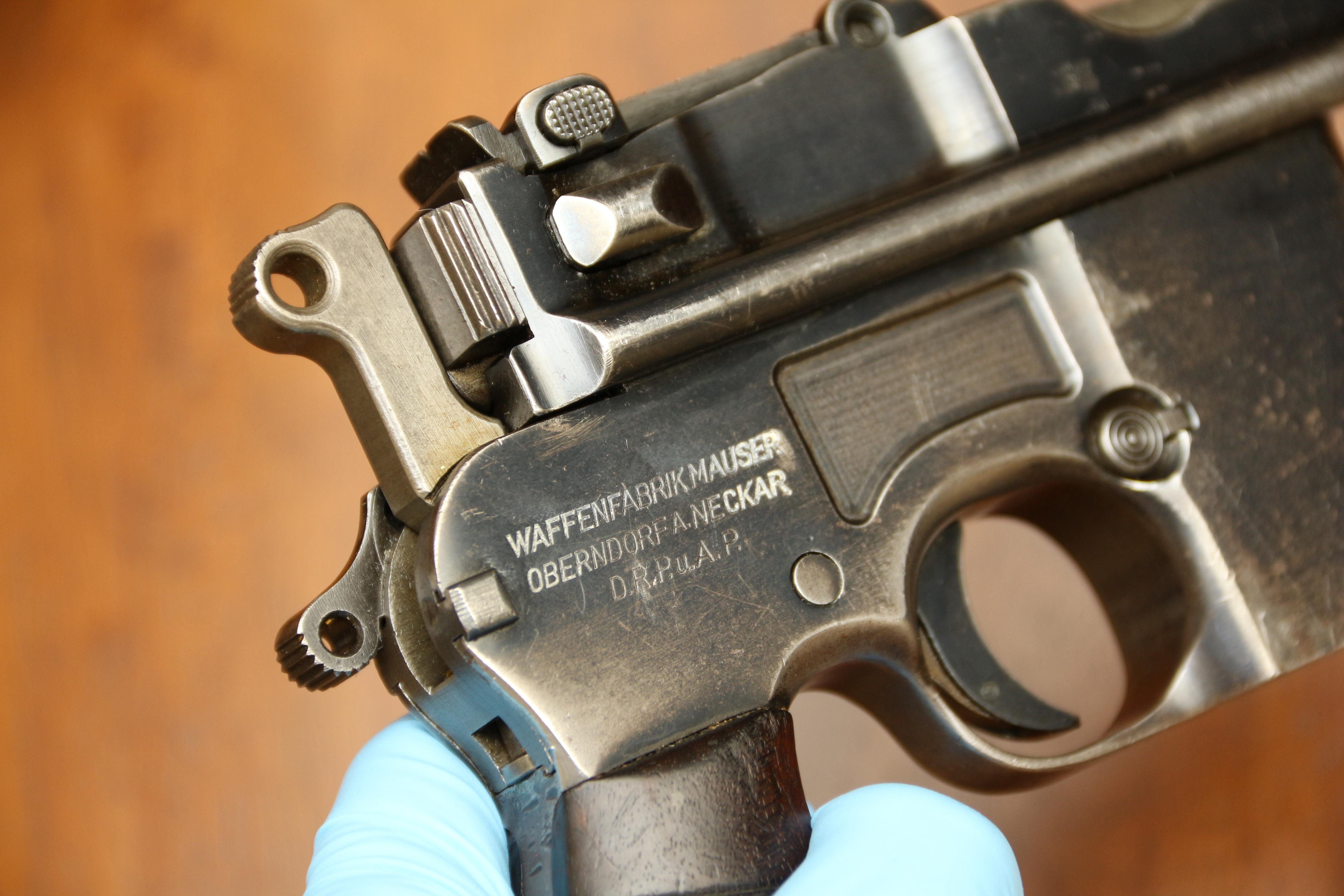 Фото Mauser M712 Shnellfeuer #8565, клеймо военной немецкой приемки, войска SS