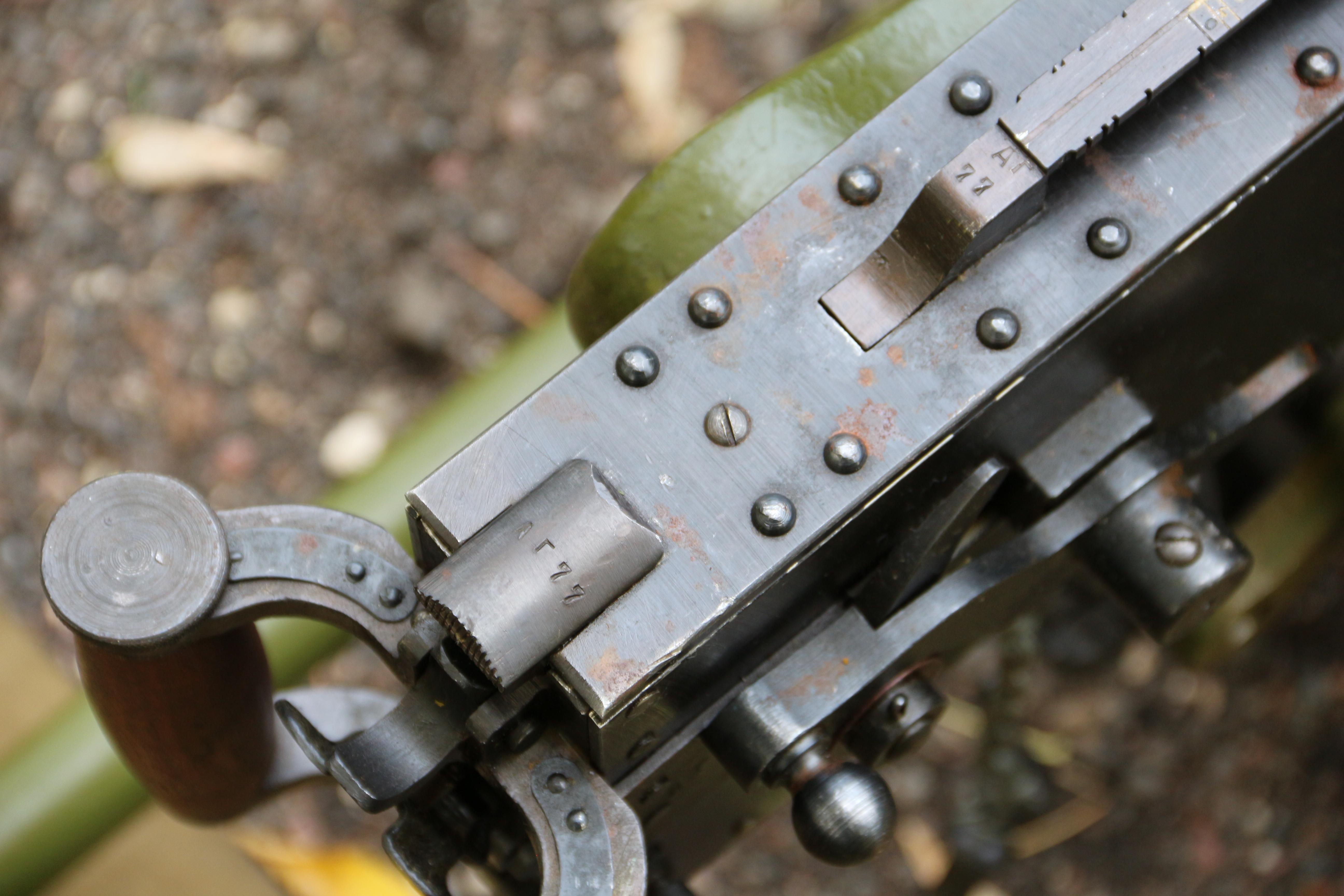 Фото Пулемет Максим 1945 года, номер №АГ77, коллекционное состояние