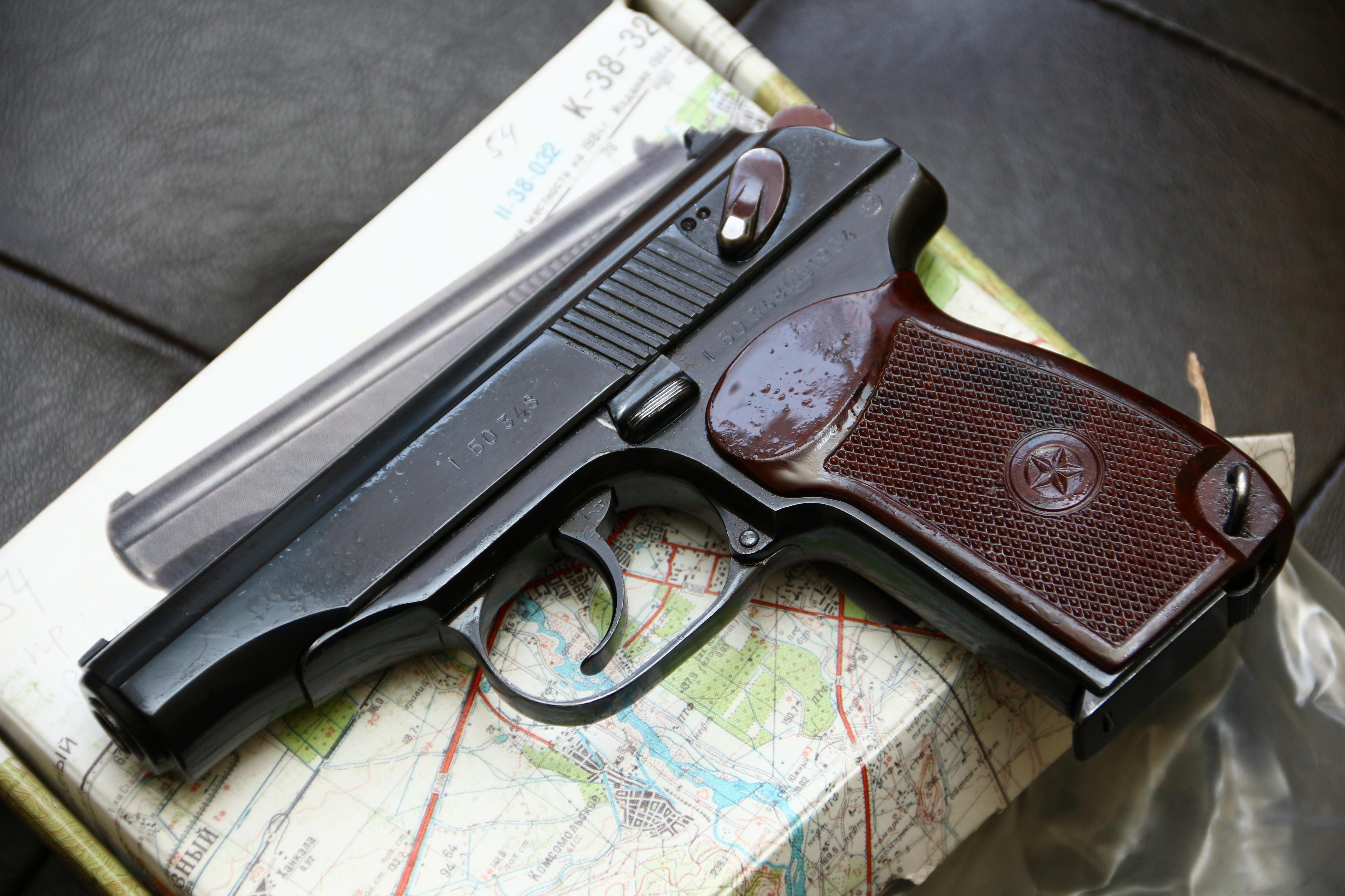 Охолощенный пистолет Макарова ПМ-О 1954 года №БО348