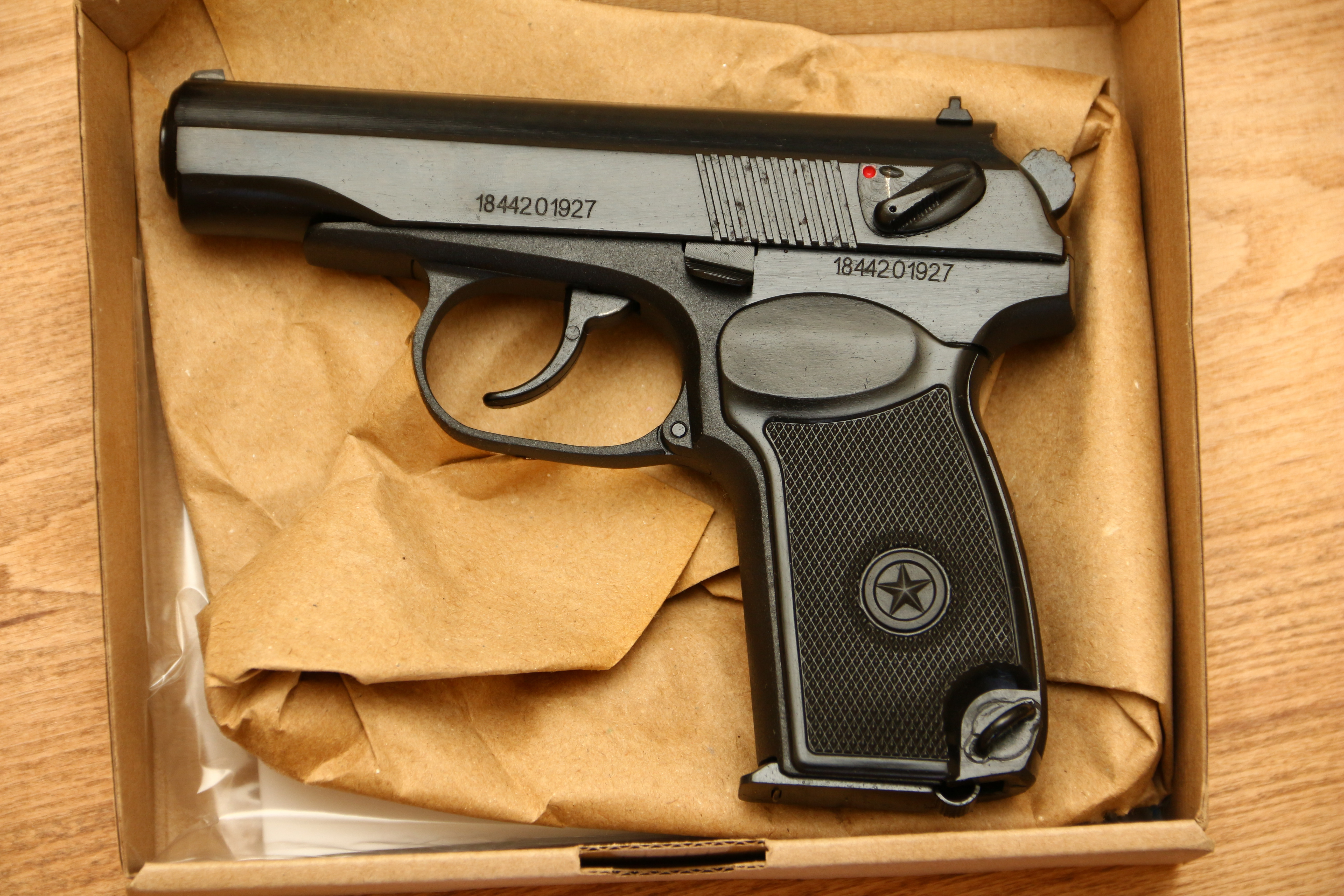 Охолощенный пистолет Макарова Р-411 №184420197 «бородач»